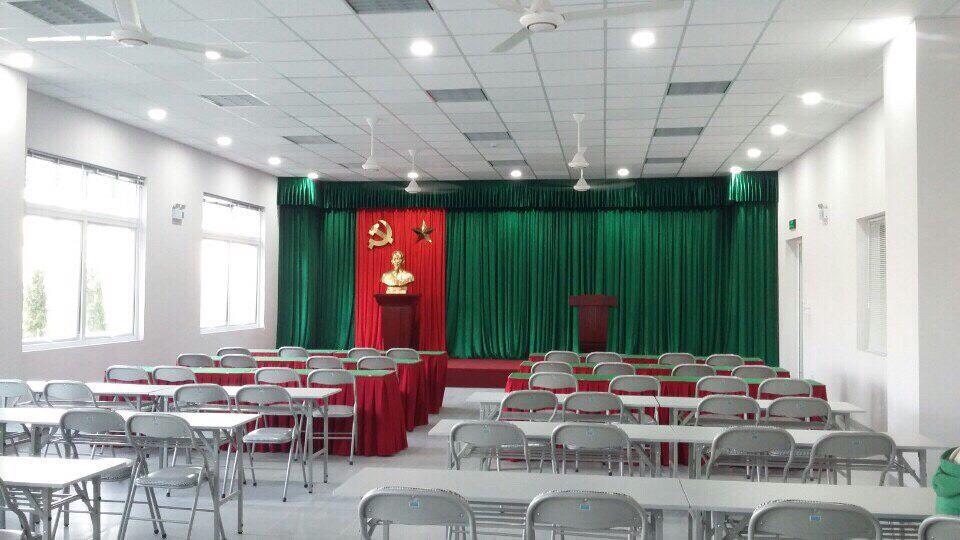 Rèm hội trường sân khấu làm từ chất liệu gì? 0975765295 RP02
