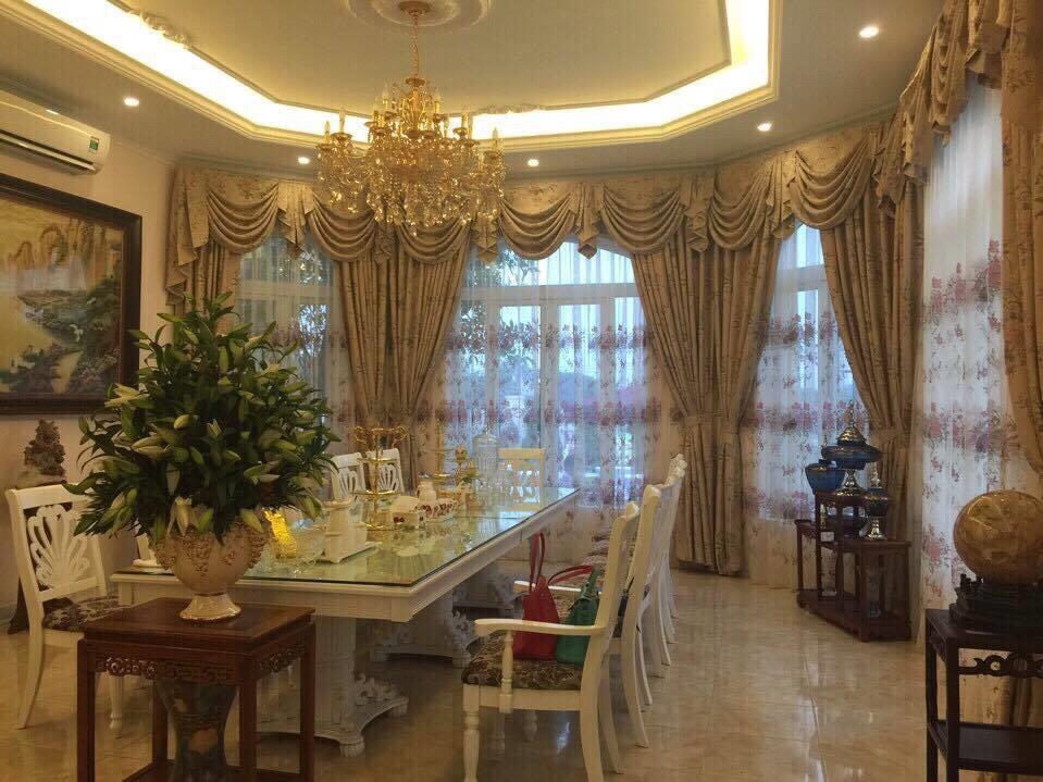 Phòng khách biệt thự nên dùng loại rèm cửa nào? 0975765295 SK434